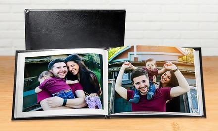 Lederen fotoboek A5 en A4 met 20, 40, 60 pagina's vanaf € 2,99