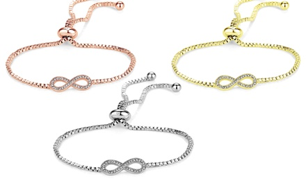 One, Two or Three Philip Jones Infinity Friendship Bracelets with Crystals from Swarovski®