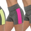 Women's Two-Tone Space Dye Active Shorts (3-Pack)