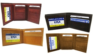 Genuine Leather Bifold, Trifold, or Coat Wallet or Passport Holder
