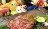 【43%OFF】自慢の肉料理や鮮魚を楽しめる豪華コース≪国産牛ランプステーキ、塊肉ステーキ、鮮魚お造りなど12品≫ @燻製と焼き鳥屋 心...