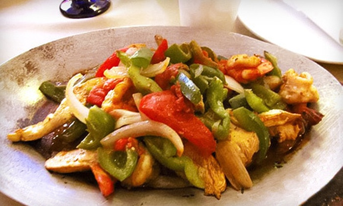 Real Tenochtitlán - Logan Square: $30 for a Fajita Meal with a Guacamole Appetizer and Margaritas for Two at Real Tenochtitlán (Up to $60 Value)