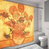 Sunflowers Museum Collection Fabric Shower Curtain