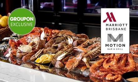 5* Seafood Buffet with Wine $129, 4 $258, 6 $387 or 8 People $516 at Motion Dining Up to $892 Value