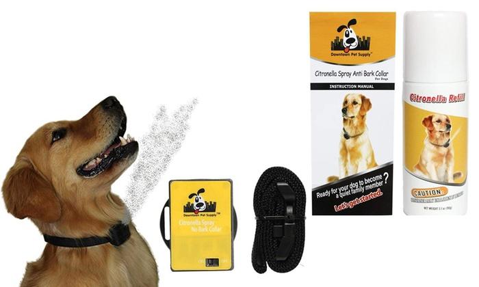 Pet Products Dog Traning Supplies Spray Bark Collar Anti-bark Device Adjustable Battery Dog Collar With Spray Pet Supply