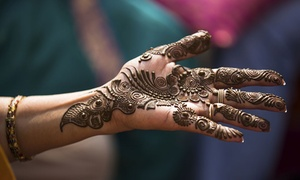 Badri Brows and Spa: One Large Henna Tattoo or One or Two Medium Henna Tattoos at Badri Brows and Spa (Up to 55% Off)