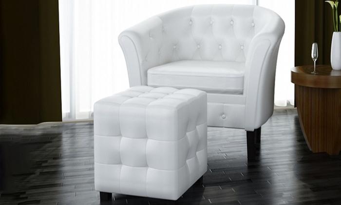 Terrific Tot 19 Op Witte Chesterfield Fauteuil Groupon Producten Lamtechconsult Wood Chair Design Ideas Lamtechconsultcom