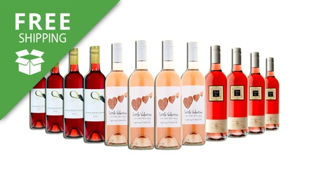 Free Shipping: $69 for 12 Mixed Bold Ultimate Rose Wine Bottles from Mudgee and Adelaide (Don't Pay $159)