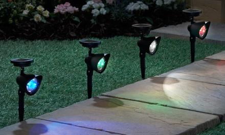 Set van 2 LEDspots met op afstand bedienbare kleurwissel