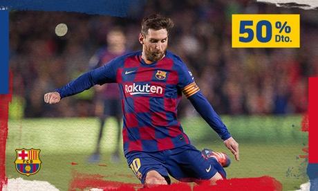 Paga 1,95 € por un código de 50% de dto. para el Barça vs. Real Valladolid, Celta de Vigo, Mallorca o Alavés