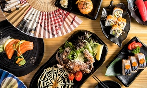 Katana Sushi Train: Japanese Dining Experience with Sakefor Two ($39) or Four People ($75) at Katana Sushi Train (Up to $169.40 Value)