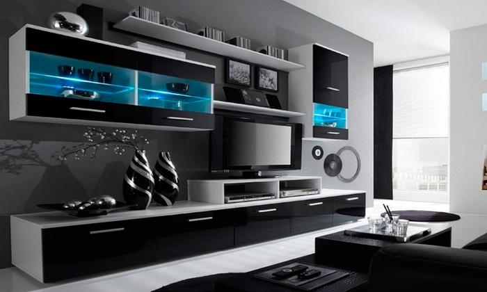 Tv In Muur : Tot op muur tv meubel groupon producten