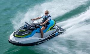 Aqua Jet Pornichet: Jet ski randonnée de 30 min pour 1 ou 2 personnes avec reportage photo web à 49,99 € avec Aqua Jet Pornichet