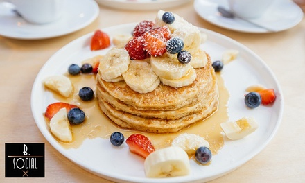 Gourmet Breakfast with Juice or Coffee for One $11, Two $20 or Four People $39 at B.Social Up to $93.60 Value
