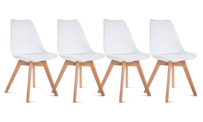 Set di 4 sedie stile scandinavo groupon goods for Sedie stile scandinavo