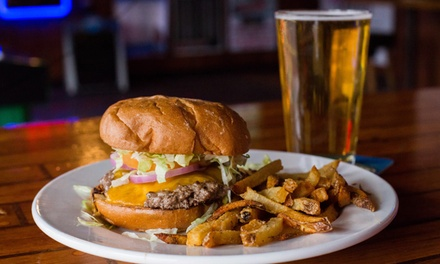 Burgers and Beer for Two or Take-Out at Spud Monkey's Bar and Grill (Up to 52% Off)