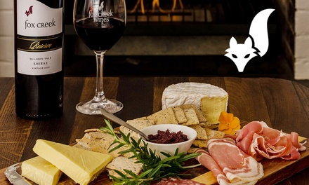 Wine Tasting + Gourmet or Vegan Platter & Glass of Wine: 2 $35 or 4 Ppl $65 at Fox Creek Wines Up to $200 Value