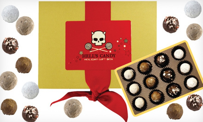 Hell's Candy: Holiday-Truffle Gift Box or $20 for $50 Worth of Chocolates and Gifts from Hell's Candy