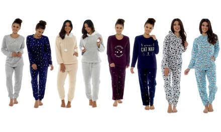 Two-Piece Fleece Loungewear Set