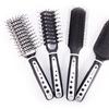 Viva Black-and-White or Rubber-Grip Hair Brush Set (4-Piece)