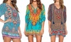 Sensual Sale: Front Tie Boho-Styled Printed Mini Dress: One ($16) or Two ($26)