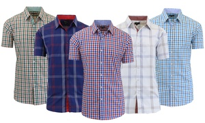 Men's Slim-Fit Checkered or Plaid Button-Down Shirts at Men's Slim-Fit Checkered or Plaid Button-Down Shirts, plus 6.0% Cash Back from Ebates.