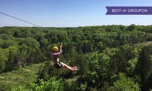 Sand Creek Adventures: $68 for Zipline Tour for Two from Sand Creek Adventures ($96 Value)