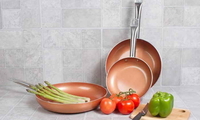 nonstick copper fry pan set 3piece - Ceramic Frying Pan