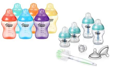 Accesorios para dar de comer al bebé Tommee Tippee: pack de 6 botellitas de 260 ml o kit anticólicos