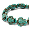 Genuine Handmade Turquoise Sea Turtles Bracelet by DREAMGEM