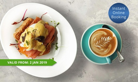 Brekky and Coffee or Tea for 1 ($14), 2 ($28), 3 ($42) or 4 People ($56) at Blue Fish Restaurant (Up to $96 Value)