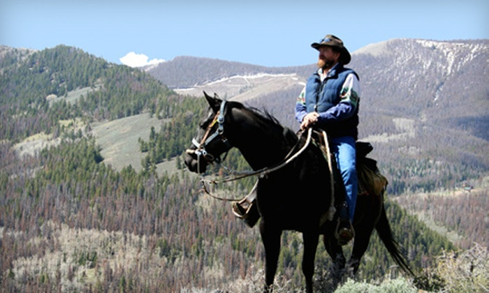 High Country-Trails - Granby: Two-Hour Trail Ride on Horseback for Two or Four from High Country-Trails (Half Off)