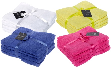 Four or EightPiece 500gsm Egyptian Cotton Hand Towel Bale from £9.98