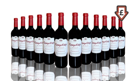 12 Bottles of Campo Viejo Tempranillo Wine for £62.99 With Free Delivery