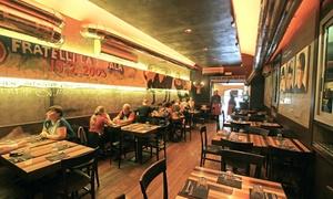 Fratelli la bufala Napoli  (Via Medina): Menu con antipasto, pizza a scelta, birra e dolce per 2 persone da Fratelli La Bufala Napoli in via Medina (sconto 55%)