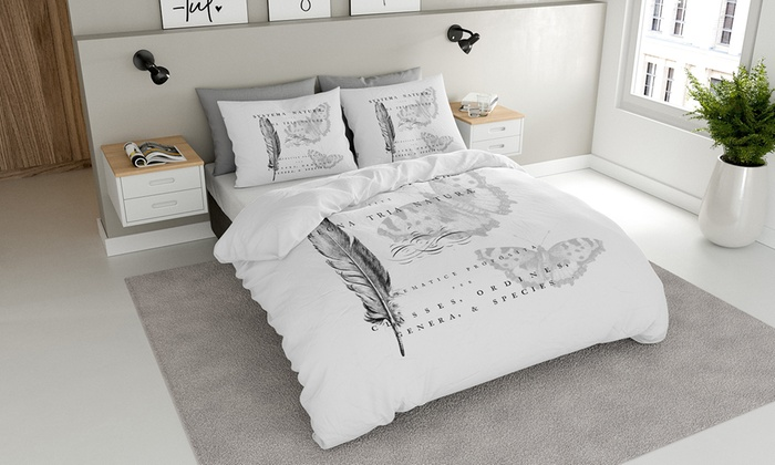jusqu 39 70 housse de couette l 39 amour groupon. Black Bedroom Furniture Sets. Home Design Ideas
