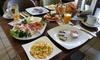 Frühstück mit Prosecco und O-Saft