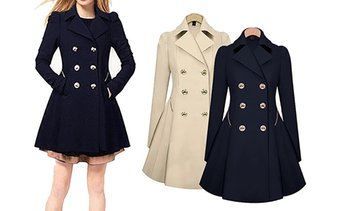 Military-Style Trench Coat