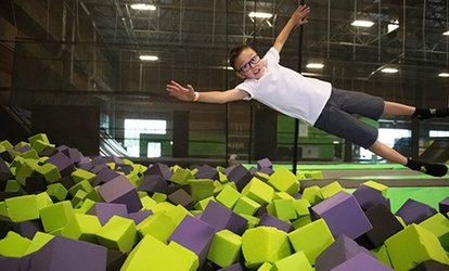 image for Jump Passes or Birthday Party at Get Air Trampoline Park (Up to 40% Off). Frive Options Available.