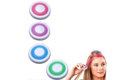 1, 2 o 4 packs de 4 tizas de colores para el pelo