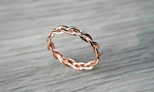 14K Gold Tri-Band Unity Ring by MAZE EXCLUSIVE