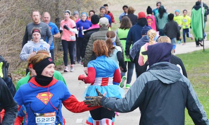 "Every Kid Needs A Superhero - Kenosha: One, Two, or Four Entries in the ""Every Kid Needs a Superhero"" 5K Run/Walk on Saturday, April 30 (Up to 44% Off)"