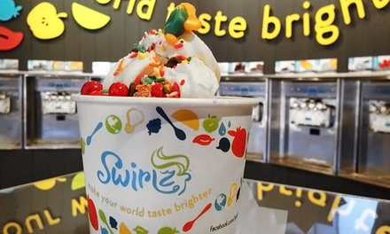 $15 for Three Groupons, Each Good for $10 Worth of Frozen Yogurt at Swirlz Yogurt Bar ($30 Total Value)