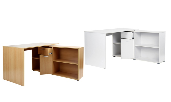 Scrivania ad angolo in mdf groupon goods