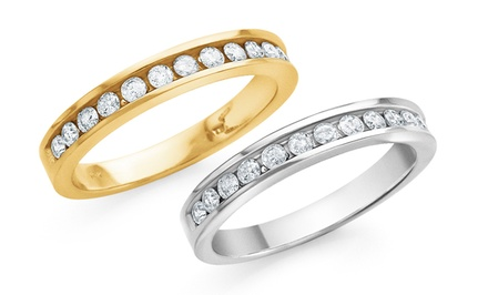 1/4 CTTW Diamond Channel Band in 10K Gold - by Today Tomorrow Together