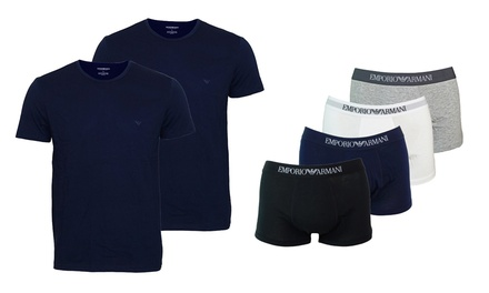 Emporio Armani Two-Pack of T-Shirts or Three-Pack of Boxers