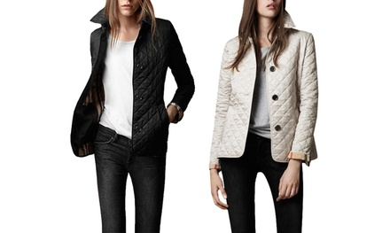 Women's Quilted Notch Collar Jacket: One ($29) or Two ($54)