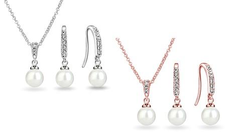 Set de joyas con perlas y Swarovski® Philip Jones