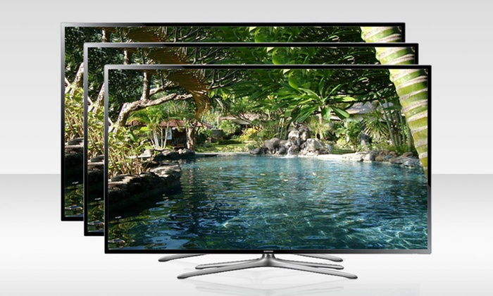 """Samsung 40"""", 50"""", or 60"""" 120Hz Smart 3D LED TVs: Samsung 40"""", 50"""", or 60"""" 1080p 120Hz 3D Smart LED HDTV with WiFi and 3D Glasses (Up to 42% Off). Free Shipping."""