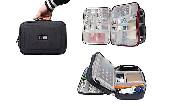 Groupon Direct - 458958: Double-Layered Travel Gadget Organiser Bag from AED 89